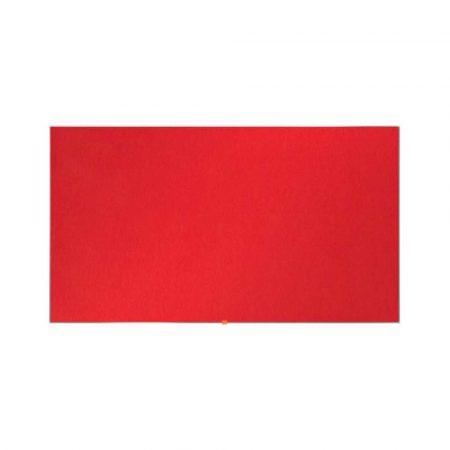 akcesoria biurowe 4 alibiuro.pl Tablica filcowa NOBO 72x41cm panoramiczna 32 Inch czerwona 78