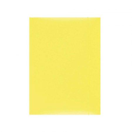 akcesoria biurowe 4 alibiuro.pl Teczka z gumką OFFICE PRODUCTS karton A4 300gsm 3 skrz. żółta 24