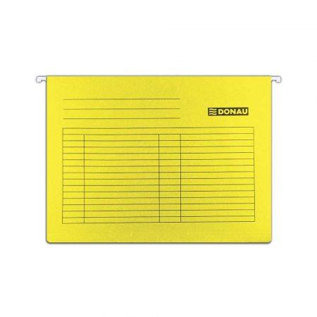 akcesoria biurowe 4 alibiuro.pl Teczka zawieszkowa DONAU A4 230gsm żółta 0