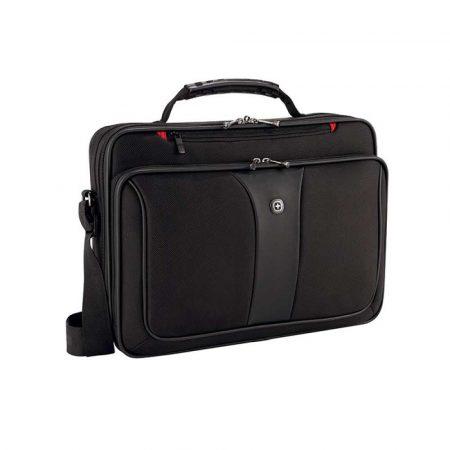 akcesoria biurowe 4 alibiuro.pl Torba na laptopa WENGER Slim Legacy 16 Inch 400x300x120mm czarna 55