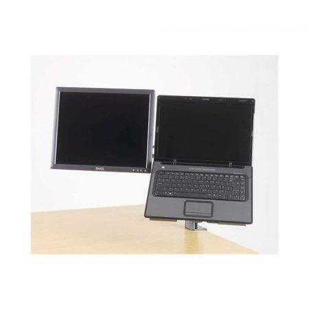 akcesoria biurowe 4 alibiuro.pl Uchwyt na dwa monitory KENSINGTON SmartFit czarny 72
