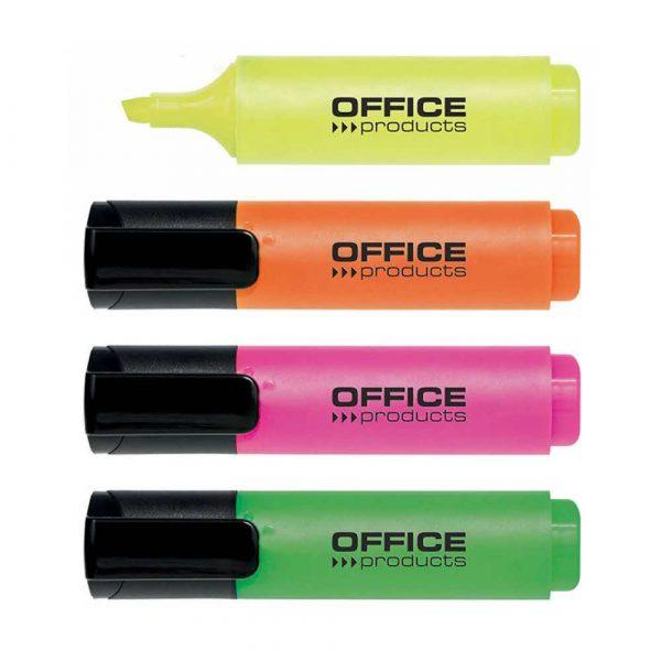 akcesoria biurowe 4 alibiuro.pl Zakreślacz OFFICE PRODUCTS 2 5mm linia 4szt. mix kolorów 21