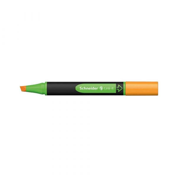 akcesoria biurowe 4 alibiuro.pl Zakreślacz SCHNEIDER Link It 1 4mm pomarańczowy 73