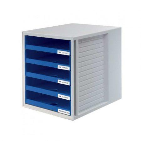 akcesoria biurowe 4 alibiuro.pl Zestaw 5 szufladek HAN CabinetSet polistyren A4 otwarte niebieski 12