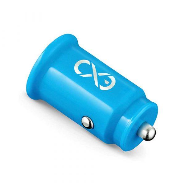 akumulatorki 4 alibiuro.pl Uniwersalna ładowarka samochodowa EXC Cute 2xUSB 2 4A niebieska 43