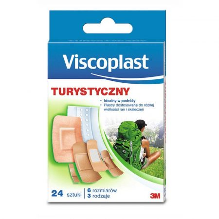 apteczki 4 alibiuro.pl Zestaw plastrów VISCOPLAST turystyczny 24szt. mix kolorów 94