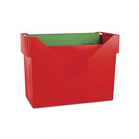 archiwizacja dokumentów 4 alibiuro.pl Mini archiwum DONAU z 5 teczkami plastikowe czerwone 57