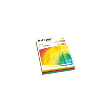 artykuły biurowe 1 alibiuro.pl A4 MAESTRO MIX Intensive papier kolorowy 02 A4 80g 5x50ark. 53