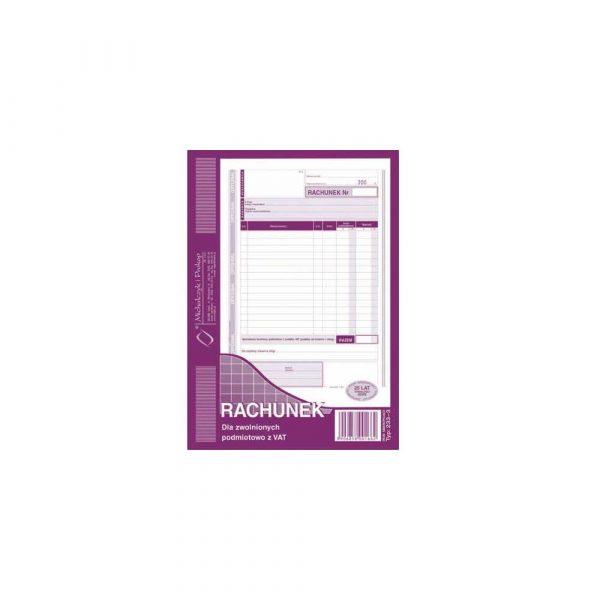 artykuły biurowe 1 alibiuro.pl Rachunek pion A5 oryginał 1 kopia 80 k MIP 233 3 20