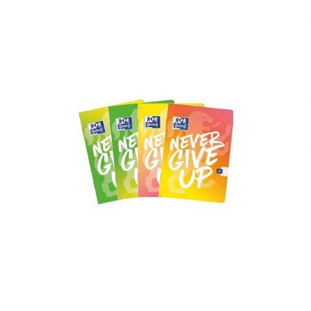 artykuły biurowe 1 alibiuro.pl Zeszyt A5 60 kartek w kratkę Never Give Up TOUCH mix kolorów Oxford 54