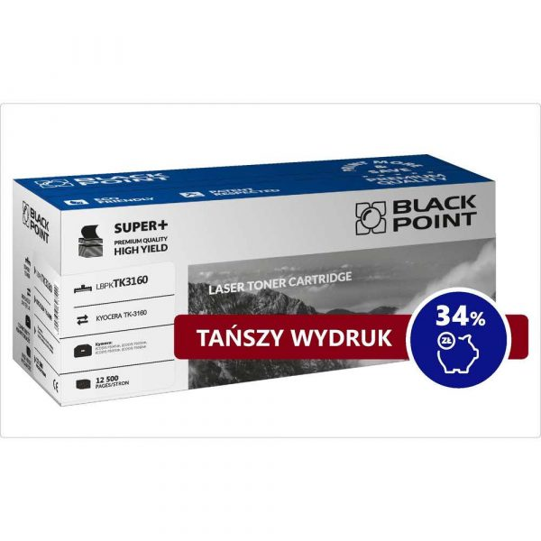 artykuły biurowe 3 alibiuro.pl LBPKTK3160 Toner BP S TK 3160 BlackPoint LBPKTK3160 BLKYOTK3160BCBW 53