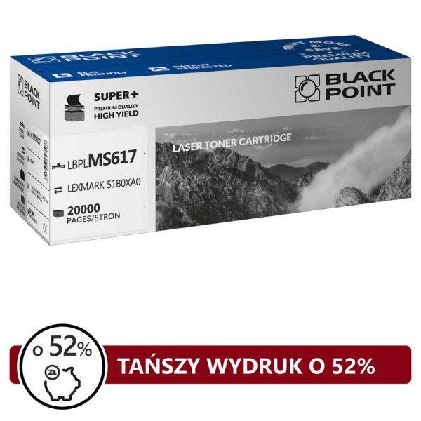 artykuły biurowe 3 alibiuro.pl LBPLMS617 Toner BP S Lexmark 51B0XA0 BlackPoint LBPLMS617 BLLMX617BKBW 87