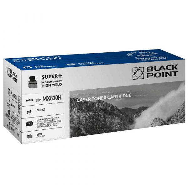 artykuły biurowe 3 alibiuro.pl LBPLMX810H Toner BP S Lex 62D2H00 BlackPoint LBPLMX810H BLLMX810HBKBW 49