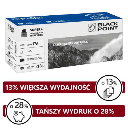 artykuły biurowe 3 alibiuro.pl LBPPH17A Toner BP S HP CF217A BlackPoint LBPPH17A BLH217ABCBW 34