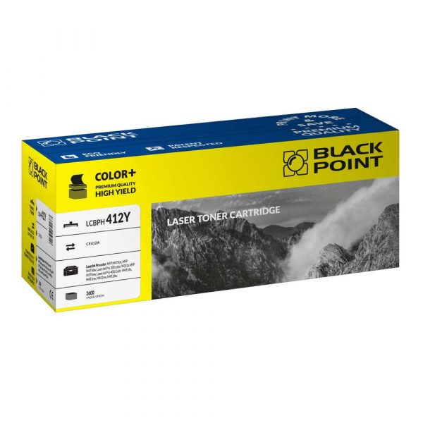 artykuły biurowe 3 alibiuro.pl LCBPH412Y Toner BP HP CE412A BlackPoint LCBPH412Y BLH300BYBW 34