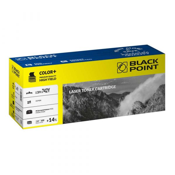 artykuły biurowe 3 alibiuro.pl LCBPH742Y Toner BP HP CE742A BlackPoint LCBPH742Y BLH5225BYBW 72
