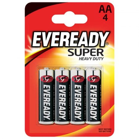 artykuły biurowe 4 alibiuro.pl Bateria EVEREADY Super Heavy Duty AA R6 1 5V 4szt. 18