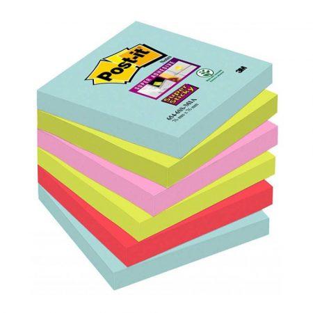 artykuły biurowe 4 alibiuro.pl Bloczek samoprzylepny POST IT Super sticky 654 6SS MIA 76x76mm 6x90 kart. paleta Miami 61