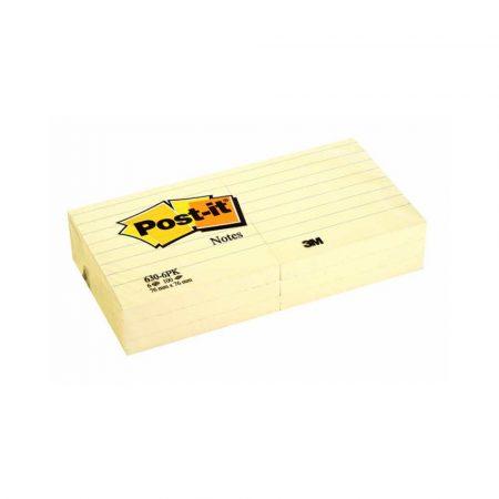 artykuły biurowe 4 alibiuro.pl Bloczek samoprzylepny POST IT w linie 630 6PK 76x76mm 6x100 kart. żółty 18