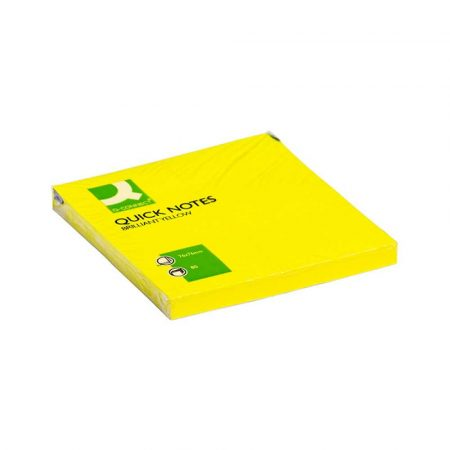 artykuły biurowe 4 alibiuro.pl Bloczek samoprzylepny Q CONNECT Brilliant 76x76mm 1x80 kart. żółty 40