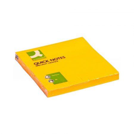 artykuły biurowe 4 alibiuro.pl Bloczek samoprzylepny Q CONNECT Brilliant 76x76mm 1x80 kart. pomarańczowy 13