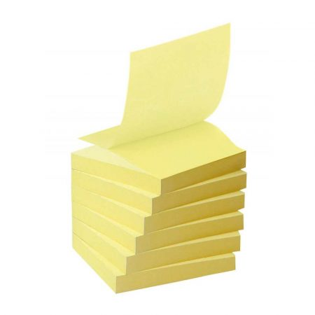 artykuły biurowe 4 alibiuro.pl Bloczek samoprzylepny ekologiczny POST IT Z notes R330 1T 76x76mm 16x100 kart. żółty 68