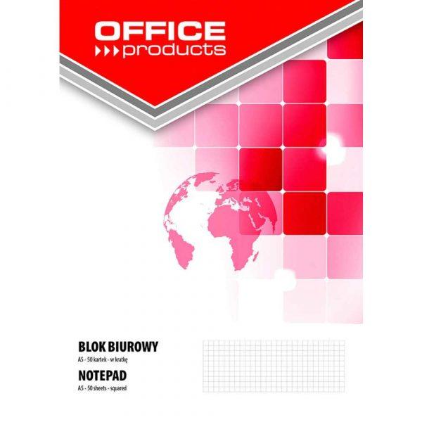 artykuły biurowe 4 alibiuro.pl Blok biurowy OFFICE PRODUCTS A5 w kratkę 50 kart. 70gsm 12