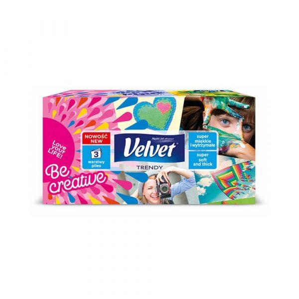 artykuły biurowe 4 alibiuro.pl Chusteczki kosmetyczne celulozowe VELVET Harmony 3 warstwowe 120 listków biały 84