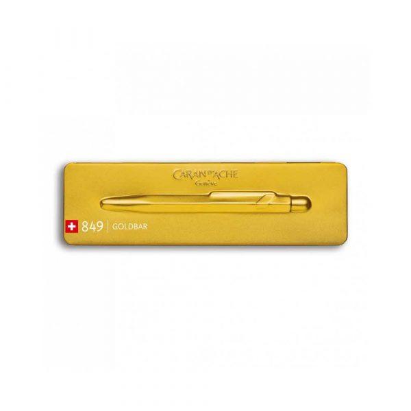 artykuły biurowe 4 alibiuro.pl Długopis CARAN D Inch ACHE 849 Goldbar M w pudełku złoty 47