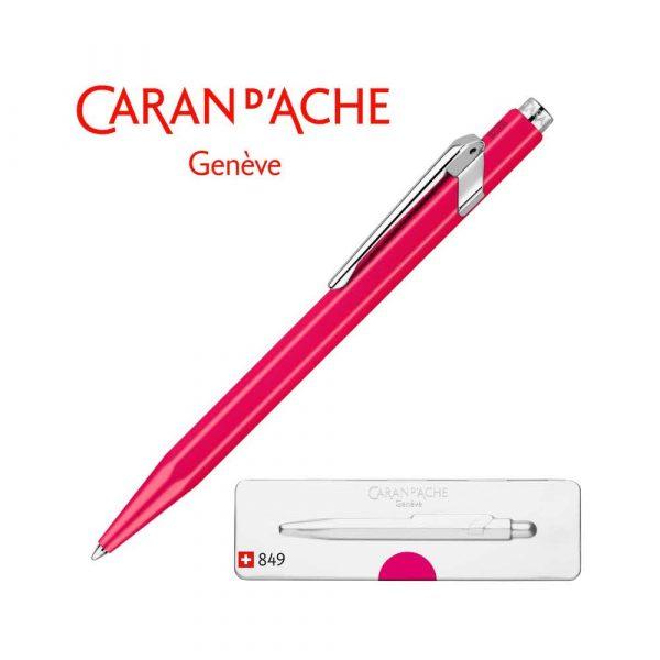 artykuły biurowe 4 alibiuro.pl Długopis CARAN D Inch ACHE 849 Pop Line Fluo M w pudełku fioletowy 0