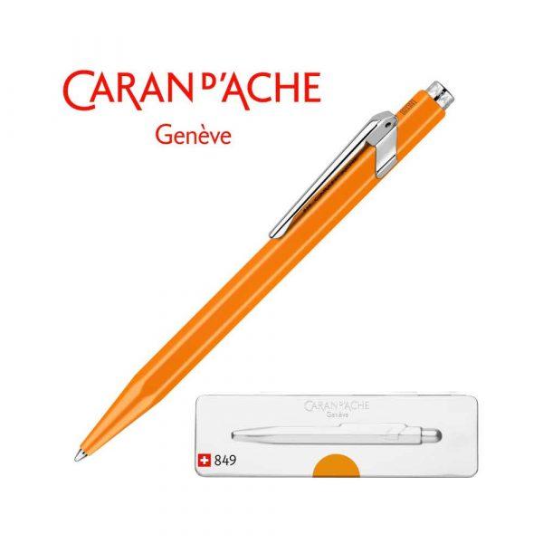 artykuły biurowe 4 alibiuro.pl Długopis CARAN D Inch ACHE 849 Pop Line Fluo M w pudełku pomarańczowy 73