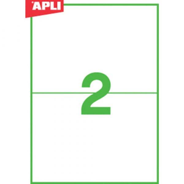 artykuły biurowe 4 alibiuro.pl Etykiety ekologiczne APLI 210x148mm prostokątne białe 63