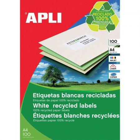 artykuły biurowe 4 alibiuro.pl Etykiety ekologiczne APLI 70x37mm prostokątne białe 39
