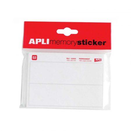 artykuły biurowe 4 alibiuro.pl Etykiety pocztowe APLI w bloczku 100x30mm 50 ark. białe 29