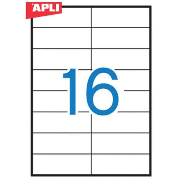 artykuły biurowe 4 alibiuro.pl Etykiety uniwersalne APLI 105x37mm prostokątne białe 100 ark. 34