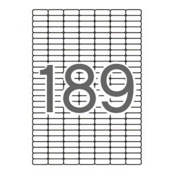 artykuły biurowe 4 alibiuro.pl Etykiety uniwersalne APLI 25 4x10mm zaokrąglone białe 10 ark. 84