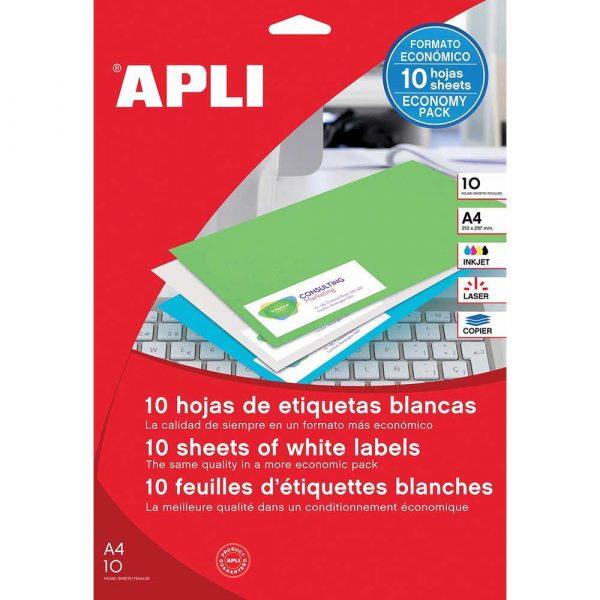 artykuły biurowe 4 alibiuro.pl Etykiety uniwersalne APLI 48 5x25 4mm prostokątne białe 10 ark. 8