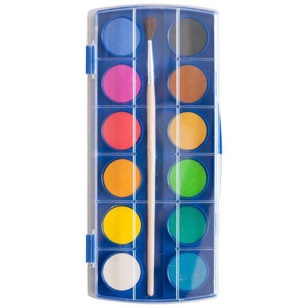 artykuły biurowe 4 alibiuro.pl Farby akwarelowe KEYROAD zawieszka z pędzelkiem 12 kolorów 14