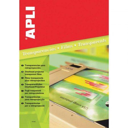 artykuły biurowe 4 alibiuro.pl Folia do rzutników APLI A4 do drukarki laserowej 100ark. 91
