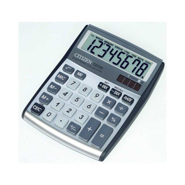 artykuły biurowe 4 alibiuro.pl Kalkulator biurowy CITIZEN CDC 80WB 8 cyfrowy 135x105mm szary 4