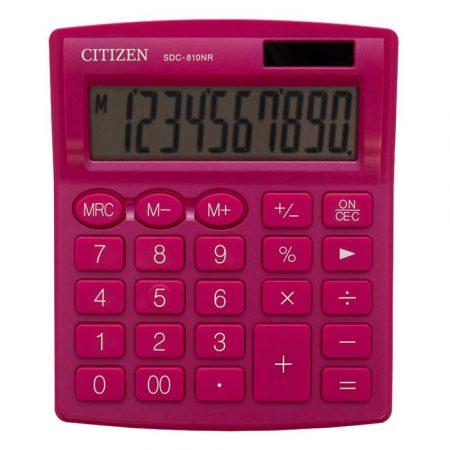 artykuły biurowe 4 alibiuro.pl Kalkulator biurowy CITIZEN SDC 810NRPKE 10 cyfrowy 127x105mm różowy 70