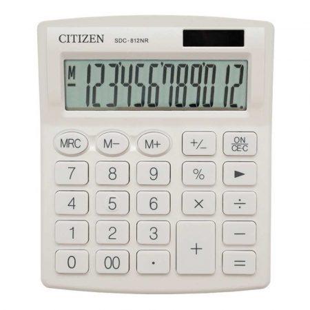 artykuły biurowe 4 alibiuro.pl Kalkulator biurowy CITIZEN SDC 812NRWHE 12 cyfrowy 127x105mm biały 92