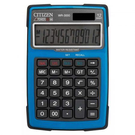 artykuły biurowe 4 alibiuro.pl Kalkulator wodoodporny CITIZEN WR 3000 152x105mm niebieski 52