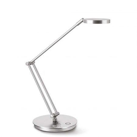 artykuły biurowe 4 alibiuro.pl Lampka na biurko CEP CLED 400 7 5W ze ściemniaczem srebrna 90