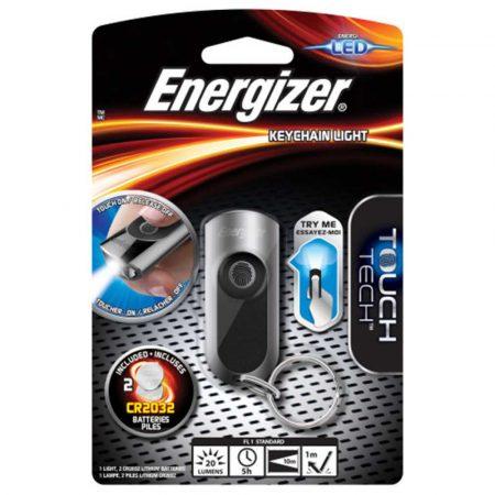 artykuły biurowe 4 alibiuro.pl Latarka ENERGIZER Keychain Led 2szt. baterii CR2032 srebrna 39