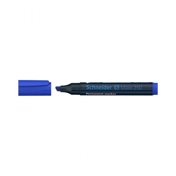 artykuły biurowe 4 alibiuro.pl Marker permanentny SCHNEIDER Maxx 250 ścięty 2 7mm niebieski 28