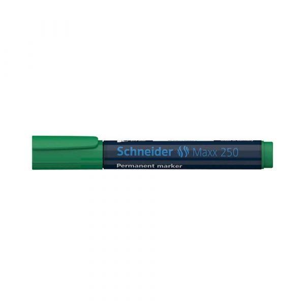 artykuły biurowe 4 alibiuro.pl Marker permanentny SCHNEIDER Maxx 250 ścięty 2 7mm zielony 44