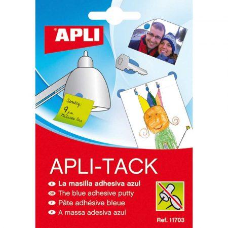 artykuły biurowe 4 alibiuro.pl Masa mocująca APLI Apli Tack w bloku 57g niebieska 84
