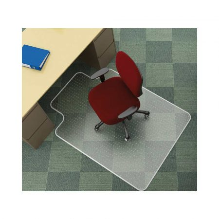 artykuły biurowe 4 alibiuro.pl Mata pod krzesło Q CONNECT na dywany 120x90cm kształt T 71