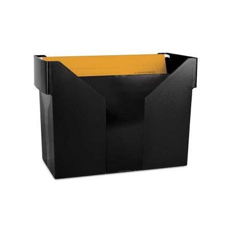 artykuły biurowe 4 alibiuro.pl Mini archiwum DONAU z 5 teczkami plastikowe czarne 29